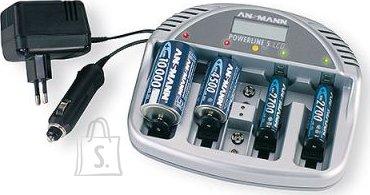 "Ansmann Ansmann laadija ekraaniga ""Powerline 5 LCD"" , AAA, AA, C, D, 9v EOL"