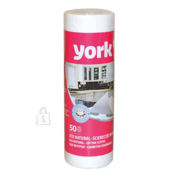 York Puhastuslapid rullis 50tk, valged, York