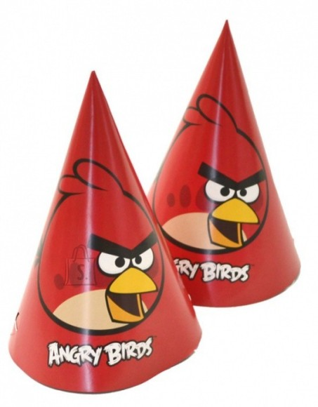 Amscan Angry Birds Peomütsid 6tk/pk.