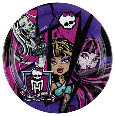 Amscan Monster High 2 taldrik 23cm/8tk.