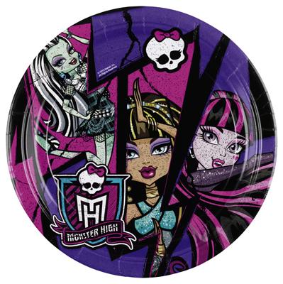 Amscan Monster High 2 taldrik 18cm/8tk.