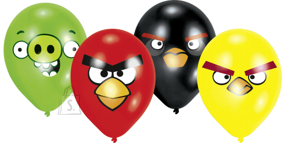 "Amscan Õhupallid Angry Birds 8tk/25,4cm/10"""