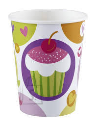 Amscan Joogitopsid 266ml 8tk/pk Cupcake