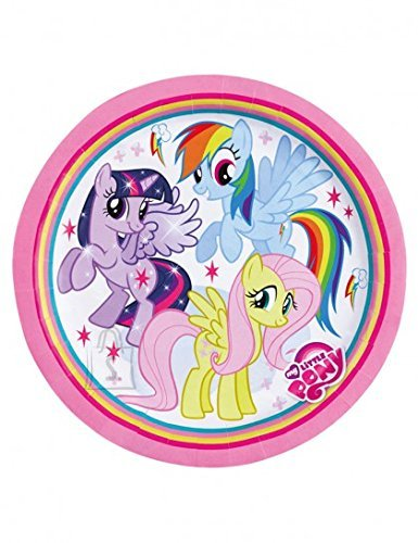 Amscan Taldrikud 23cm 8tk/pk My Little Pony Rainbow