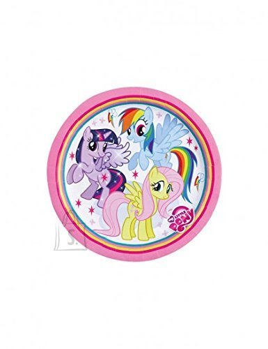 Amscan Taldrikud 18cm 8tk/pk My Little Pony Rainbow