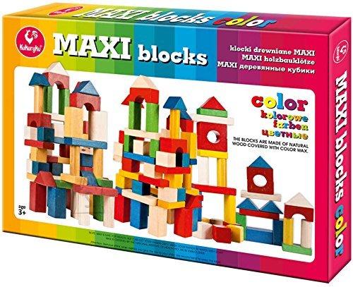 Kukuryku Puidust värvilised klotsid maxi-53osa