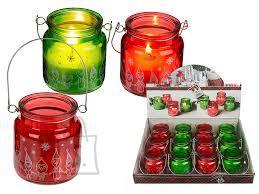 OOTB Jõuluküünal klaas, hõbedane kaunistus, riputatav