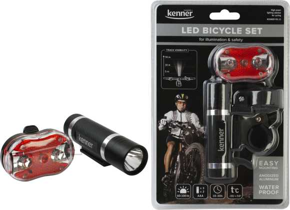 Kenner Kenner KBS13 jalgrattalampide komplekt HI-LED metall