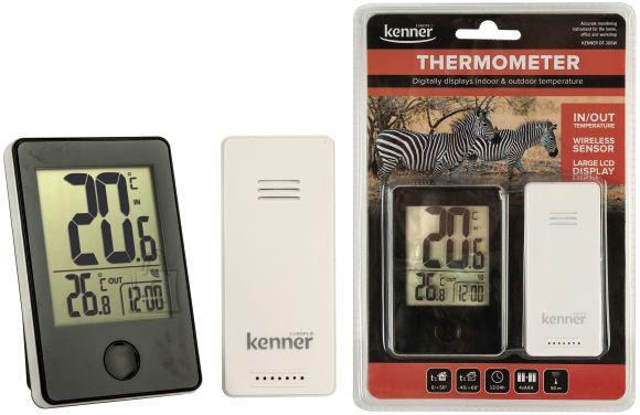 Kenner Kenner välis- ja sisetermomeeter juhtmevaba (andur 50m)/kell EOL