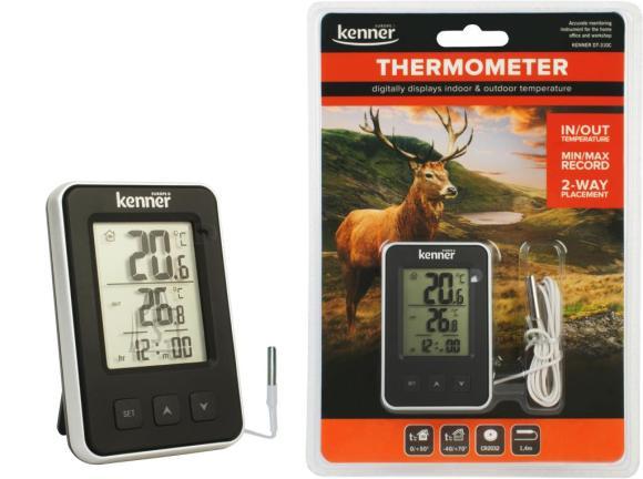 Kenner Termomeeter, sise-ja välis (1,4m kaabel)