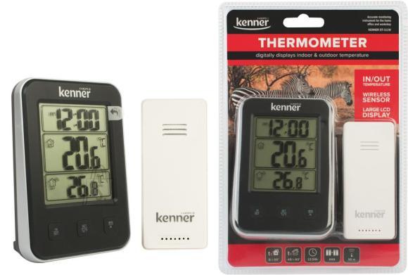 Kenner Termomeeter juhtmevaba, sise-ja välis (andur 50m)