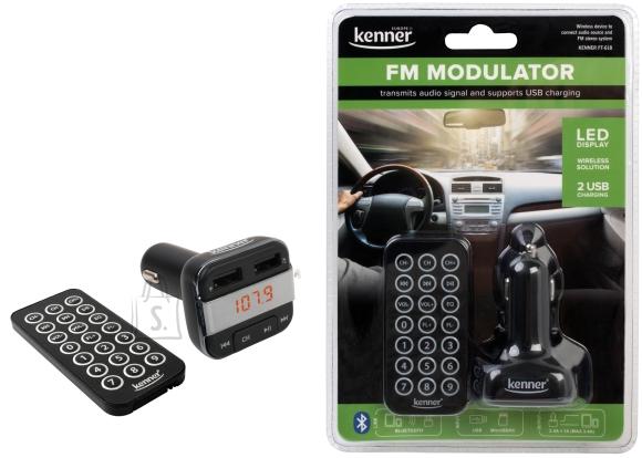 Kenner FM-transmitter Bluetooth, USB laadimispesaga