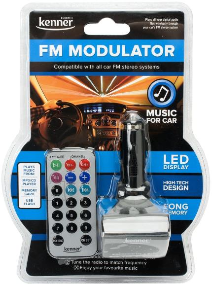 Kenner Kenner CMP12 FM-transmitter autosse. LCD ekraan