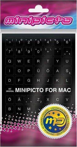 Minipicto Kleebis MAC arvuti klaviatuurile, EST, must EOL