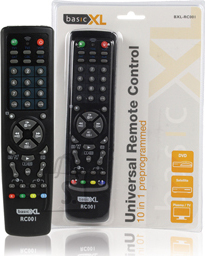 BasicXL BasicXL universaalpult 10in1 TV/CTV/VCR/DBS/SAT/CBL/HiFi/CD/LD/VCD/DVD EOL