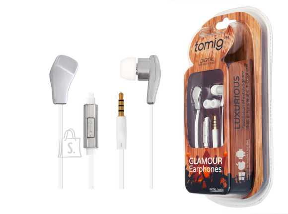 Tomig Tomig kõrvaklapid mobiilile Glamour, hõbe