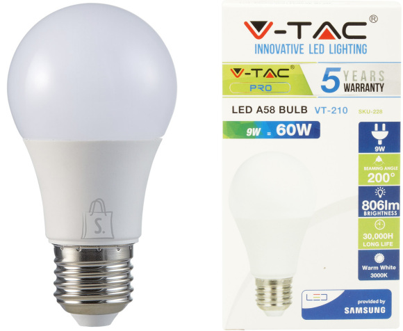 V-Tac LED lamp E27/9W/806lm/A60