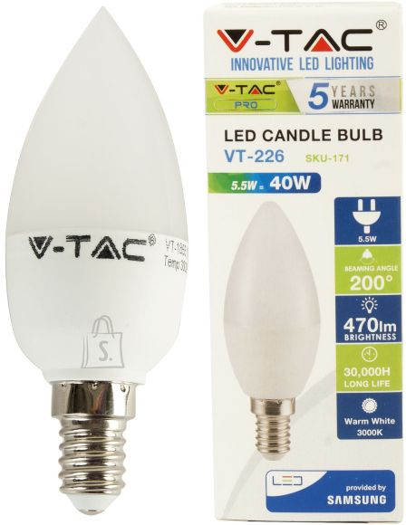 V-Tac LED lamp E14/5,5W/470lm/Candle