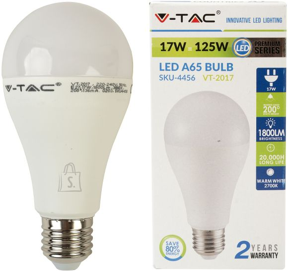 V-Tac LED lamp E27/17W/1800lm/A65