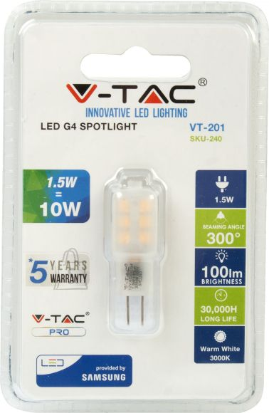 V-Tac LED lamp G4/1,5W/100lm