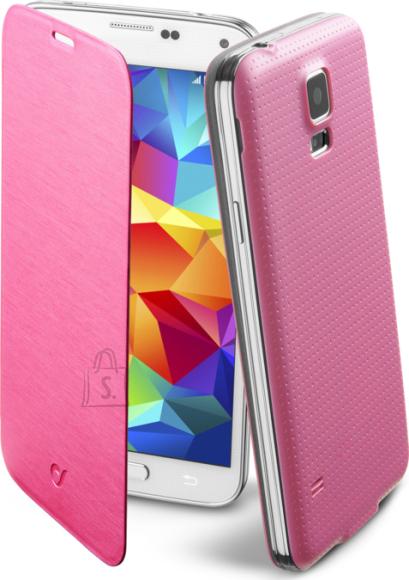 Cellularline Cellular Samsung Galaxy S5 ümbris, Flip Book, roosa