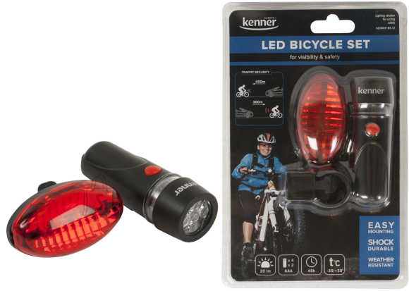 Kenner Kenner KBS12 LED jalgrattalambi komplekt, valge-punane EOL