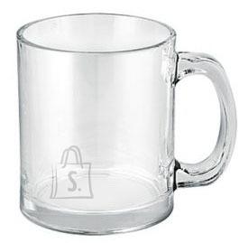 Borgonovo Latte kruus läbipaistev klaas 350ml /6