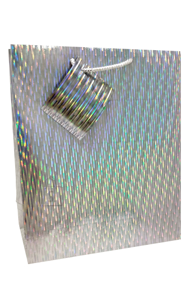 Eurowrap M kinkekott Silver Holographic