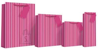 Eurowrap L kinkekott Pink Stripe Holo