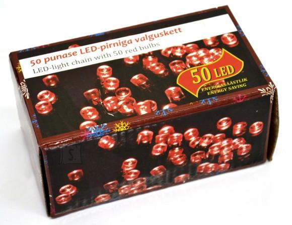 Lander 50 LED tulega kett, punane, tulede vahe 15cm