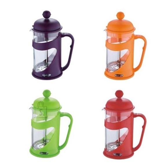Renberg Presskann 800ml kinkekarbis, rv filter, klaaskolb, värviline plastik ümbris + mõõdulusikas /12/24