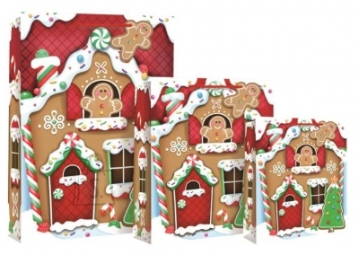 Eurowrap XL kinkekott GingerbreadHouse