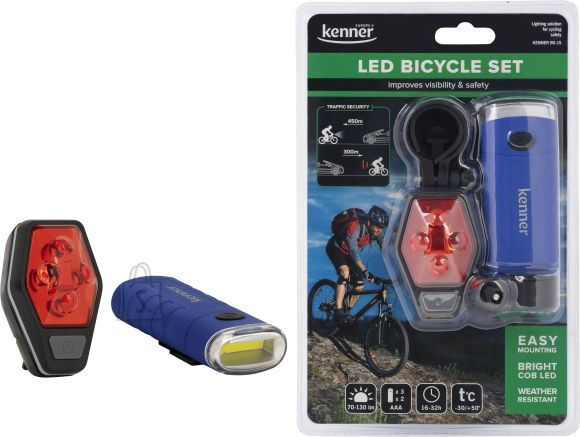 DP LED jalgrattalambi komplekt (esi+tagatuli)
