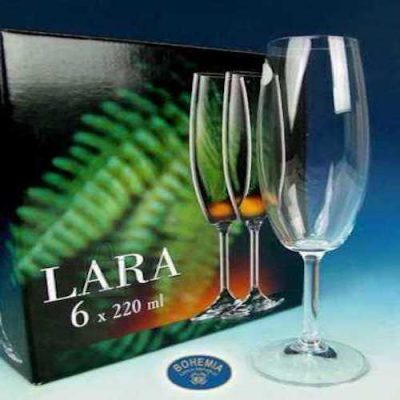 Bohemia Šampanjapokaalid Lara Classic 6tk, 220ml
