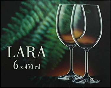 Bohemia Veini pokaalid Lara Classic 6tk, 450ml