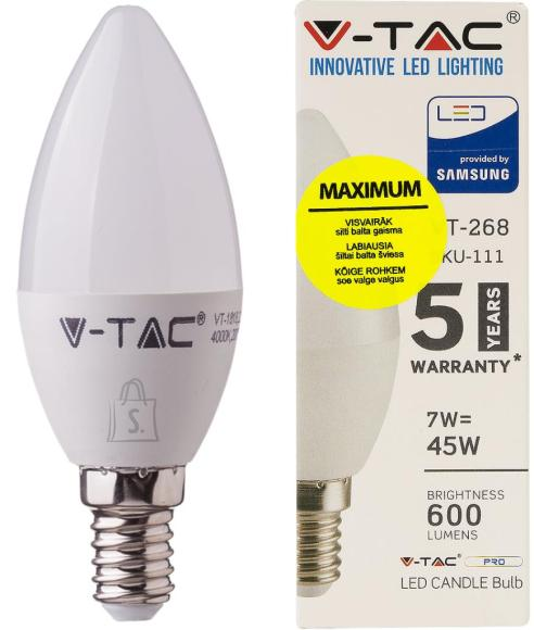 V-Tac LED lamp E14/7W/600lm/Candle
