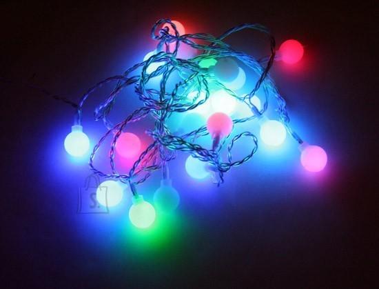 Lander 20 LED tulega valguspallid (d. 2cm), isemuutuv värv, pallide vahe 15cm /12
