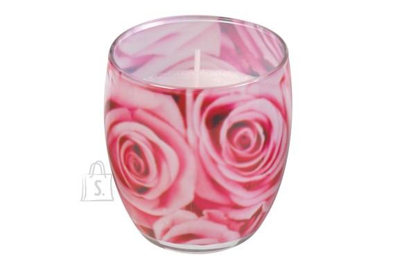 Gies Lõhnasteariinküünal dekoreeritud klaasis, Bulgarian Rose