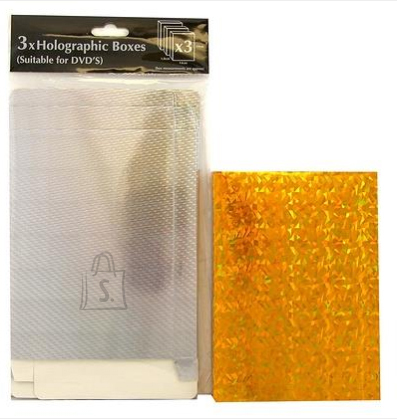 Eurowrap DVD kinkekarbid 3tk kuldne (14x19x1,8cm)