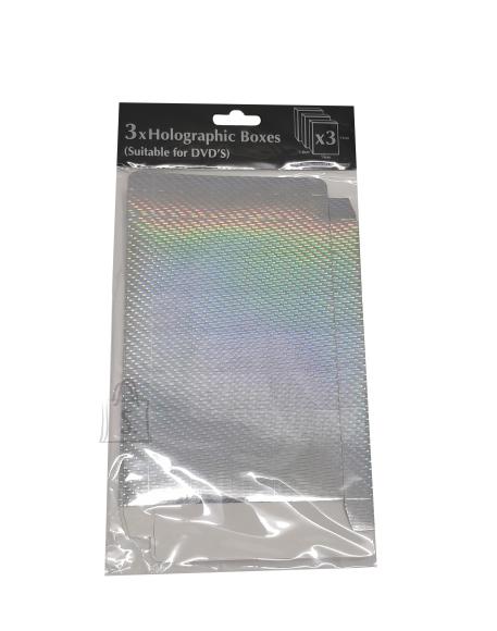 Eurowrap DVD kinkekarbid 3tk hõbe (14x19x1,8cm)