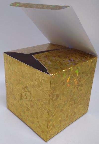 Eurowrap kinkekarbid 10x10x10cm 3tk. kuldne 12/72