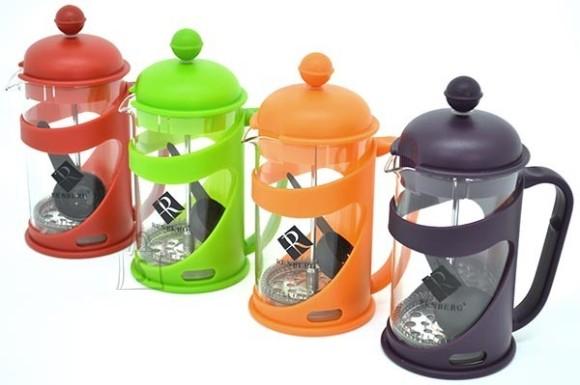 Renberg Presskann 600ml, rv filter, klaaskolb, värviline plastik ümbris /24