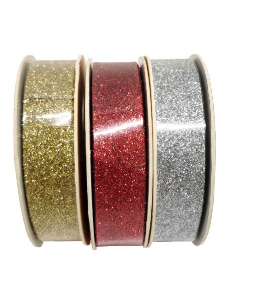 Eurowrap Pakketeip 15mmx3m 3 värvi (kuld, hõbe, pun)  36/72