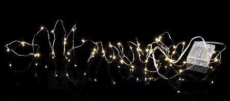 Star Valguskett String 40 LED, hõbedane, 3,9m, tulede vahe 10cm, taimer (6+18h tsükkel), patareitoide (3xAA, mitte kaasas), IP20