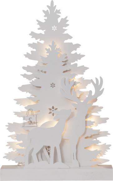 Star Lauadekoratsioon Fauna Valge, 10 LED, patareitoide, sisetingimustesse, IP20