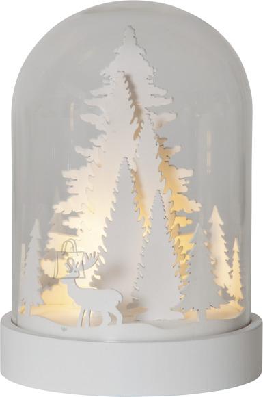 Star Lauadekoratsioon Valge mets, 3 LED, patareitoide, sisetingimustesse IP20