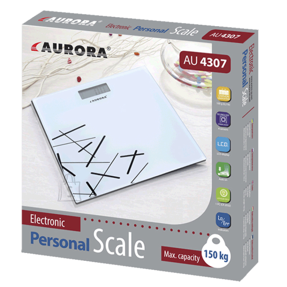 Aurora Vannitoakaal digitaalne, 150kg max, 30X30cm