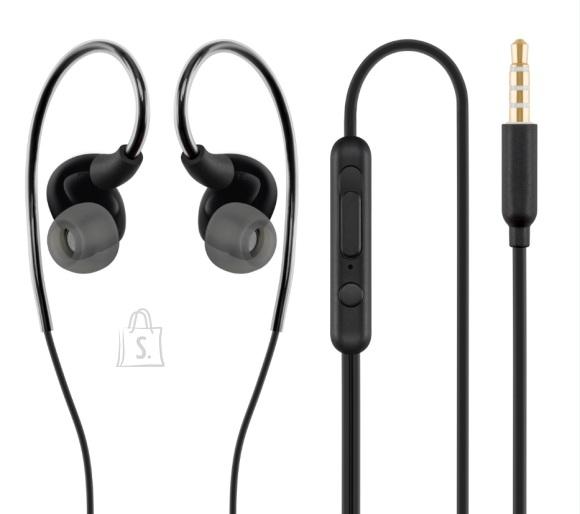 ACME Kõrvasisesed sport klapid, mikrofoniga, must