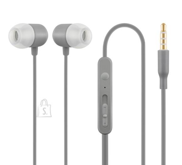 ACME Nööpkõrvaklapid mikrofoniga, hall