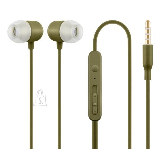 ACME Nööpkõrvaklapid mikrofoniga, khaki